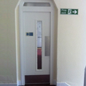 White Single fire Door